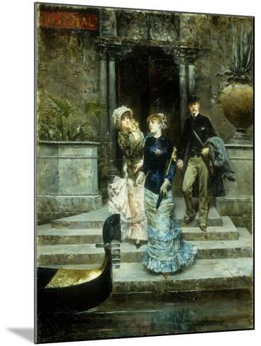 Departure from the Hotel Royal, Venice-Ludovico		 Marchetti-Mounted Giclee Print