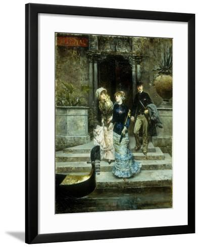 Departure from the Hotel Royal, Venice-Ludovico		 Marchetti-Framed Art Print