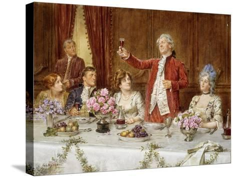 The King!-George Goodwin Kilburne-Stretched Canvas Print