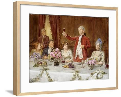 The King!-George Goodwin Kilburne-Framed Art Print