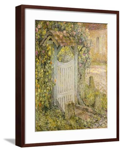Le Pothuis, Gerberoy-Henri Eugene Augustin Le Sidaner-Framed Art Print