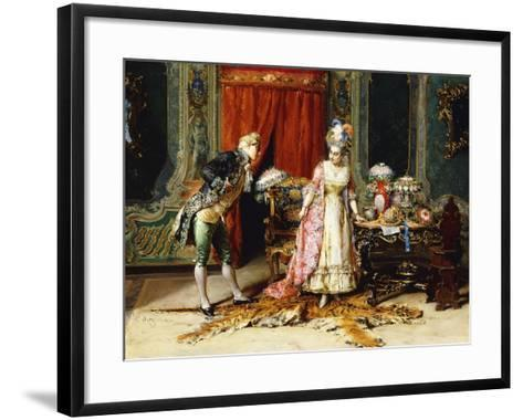 Flowers for her Ladyship-Cesare Auguste Detti-Framed Art Print