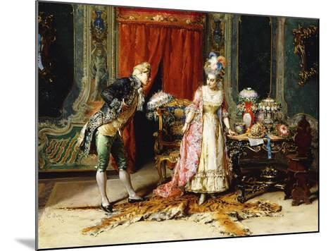 Flowers for her Ladyship-Cesare Auguste Detti-Mounted Giclee Print