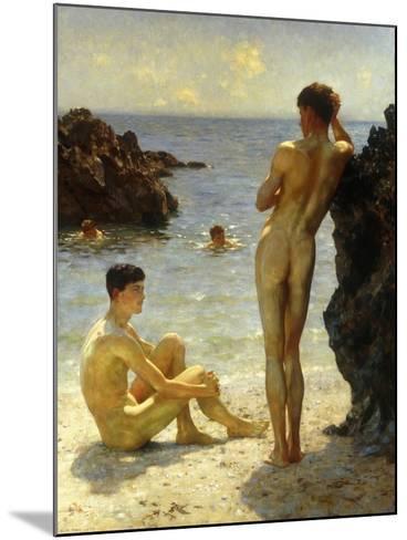 Lovers of the Sun-Henry Scott Tuke-Mounted Giclee Print