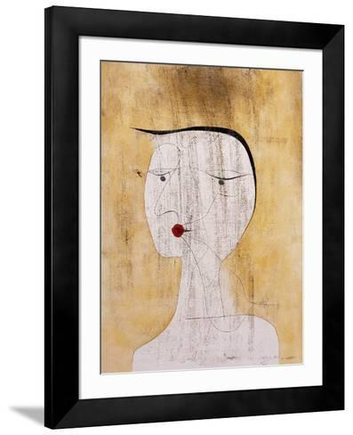 Sealed Woman-Paul Klee-Framed Art Print