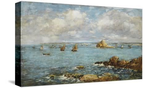 Bay of Douarnenez-Eug?ne Boudin-Stretched Canvas Print