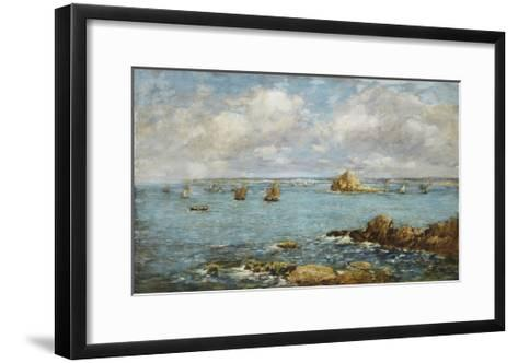Bay of Douarnenez-Eug?ne Boudin-Framed Art Print