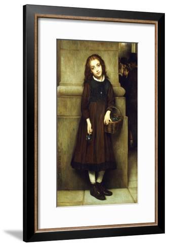 Flower Girl outside the Opera-Guillaume Charles Brun-Framed Art Print