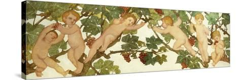 Putti Frolicking in a Vineyard-Phoebe Anna Traquair-Stretched Canvas Print