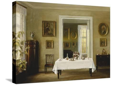 An Interior-Hans Hilsoe-Stretched Canvas Print