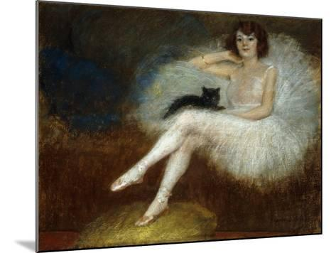 Ballerina with a Black Cat-Pierre		 Carrier-Belleuse-Mounted Giclee Print