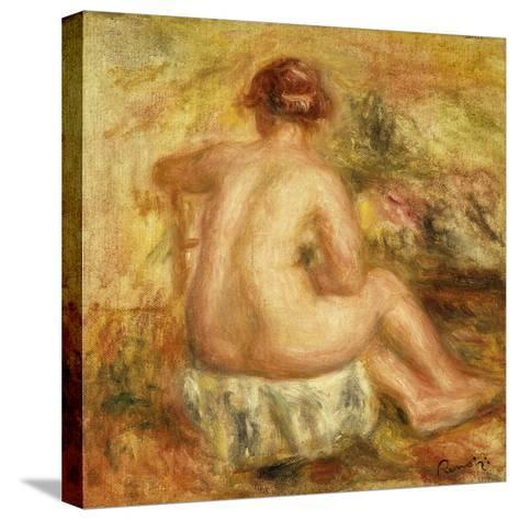 Seated Female Nude, View from behind-Pierre-Auguste Renoir-Stretched Canvas Print