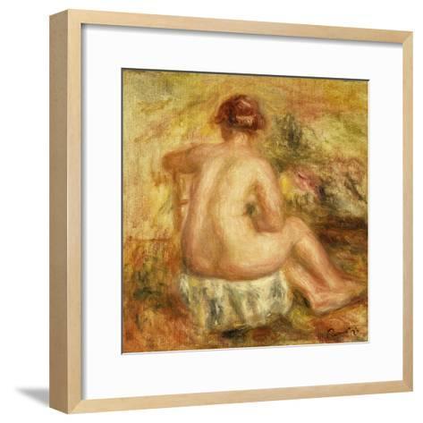Seated Female Nude, View from behind-Pierre-Auguste Renoir-Framed Art Print