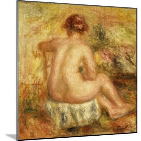 Seated Female Nude, View from behind-Pierre-Auguste Renoir-Mounted Giclee Print