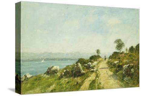 The Road, Antibes-Eug?ne Boudin-Stretched Canvas Print