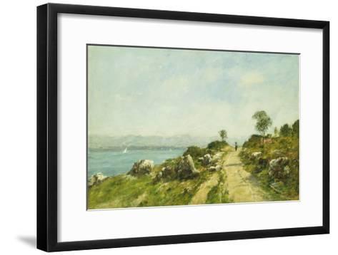 The Road, Antibes-Eug?ne Boudin-Framed Art Print