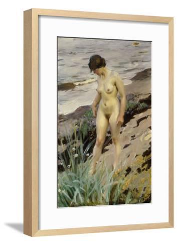 Sandhamn Study-Anders Leonard Zorn-Framed Art Print