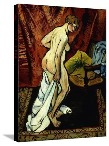Standing Nude with Towel-Suzanne Valadon-Stretched Canvas Print