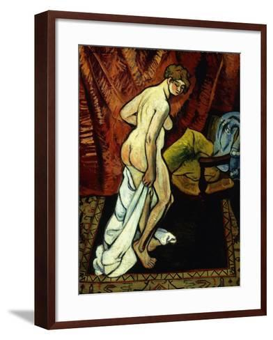 Standing Nude with Towel-Suzanne Valadon-Framed Art Print