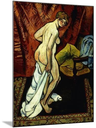 Standing Nude with Towel-Suzanne Valadon-Mounted Giclee Print