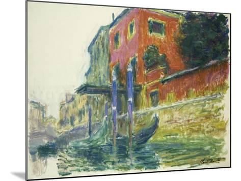 The Red House-Claude Monet-Mounted Giclee Print