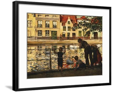 Feeding the Swans-Paul Graf-Framed Art Print
