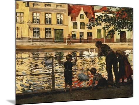 Feeding the Swans-Paul Graf-Mounted Giclee Print
