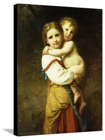 The Big Sister; La Grande Soeur-William Adolphe Bouguereau-Stretched Canvas Print