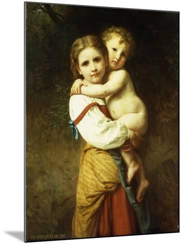 The Big Sister; La Grande Soeur-William Adolphe Bouguereau-Mounted Giclee Print