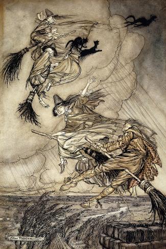 The Ingoldsby Legends: Frontispiece-Arthur Rackham-Stretched Canvas Print