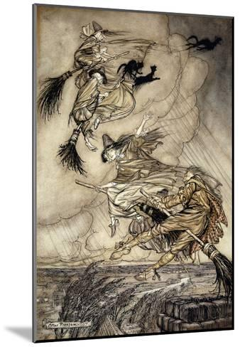 The Ingoldsby Legends: Frontispiece-Arthur Rackham-Mounted Giclee Print