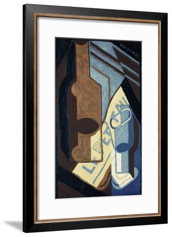 Bottle and Glass-Juan Gris-Framed Art Print