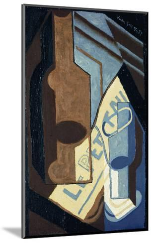 Bottle and Glass-Juan Gris-Mounted Giclee Print