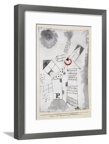 Dynamization of Houses P.-Paul Klee-Framed Art Print