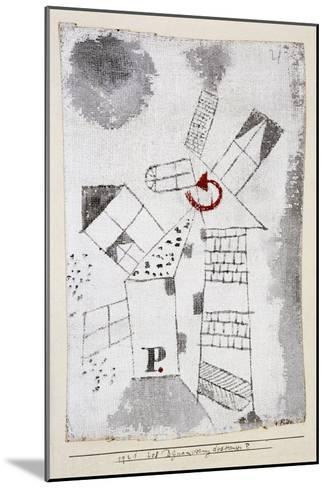 Dynamization of Houses P.-Paul Klee-Mounted Giclee Print