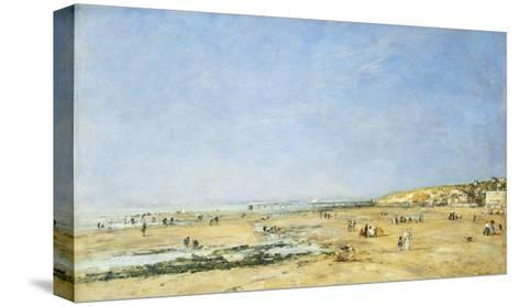 Trouville, General View of the Beach-Eug?ne Boudin-Stretched Canvas Print