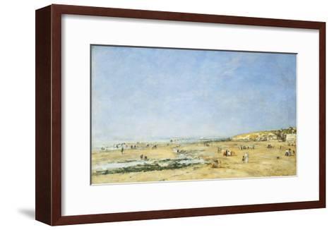 Trouville, General View of the Beach-Eug?ne Boudin-Framed Art Print