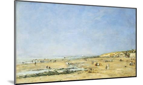Trouville, General View of the Beach-Eug?ne Boudin-Mounted Giclee Print