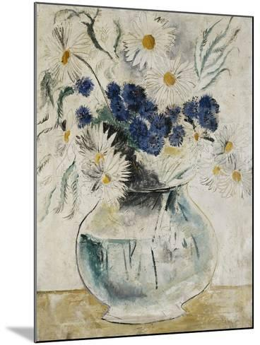 Daisies and Cornflowers in a Glass Bowl-Christopher Wood-Mounted Giclee Print