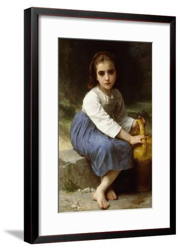 Young Girl with a Pitcher-William Adolphe Bouguereau-Framed Art Print
