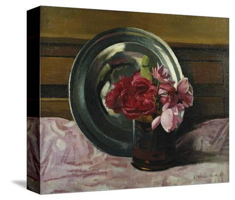 Still Life with Roses-F?lix Vallotton-Stretched Canvas Print