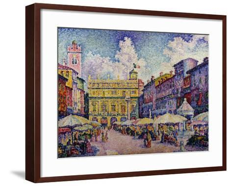 The Herb Market, Verona-Paul Signac-Framed Art Print