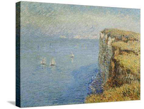 Cliffs in Normandy-Gustave Loiseau-Stretched Canvas Print
