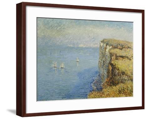 Cliffs in Normandy-Gustave Loiseau-Framed Art Print