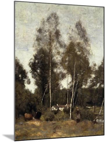 Clairiere Pierre du Bois, the Evaux, near Chateau-Thierry-Jean-Baptiste-Camille Corot-Mounted Giclee Print