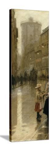 The Young Flower Vendor-Paul Fischer-Stretched Canvas Print