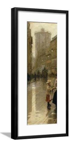The Young Flower Vendor-Paul Fischer-Framed Art Print