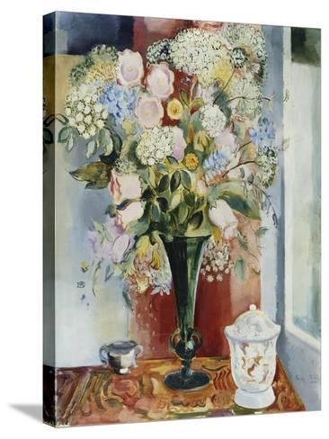 Summer Flowers in a Vase-Arthur Percy-Stretched Canvas Print