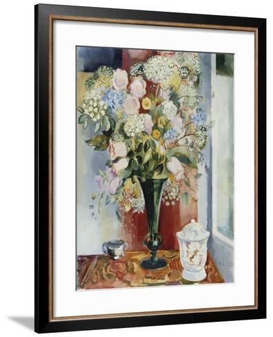 Summer Flowers in a Vase-Arthur Percy-Framed Art Print