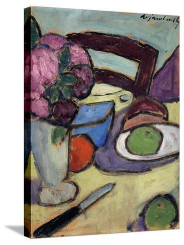 Still life with Chair and Bouquet-Alexej Von Jawlensky-Stretched Canvas Print